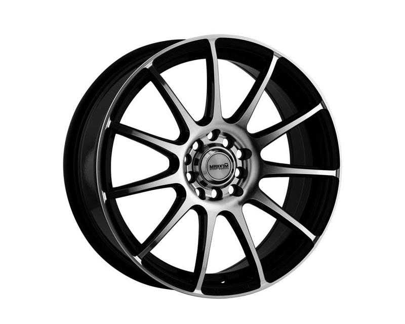 Maxxim Wheels CP46D0438M Champ Wheel 14x6 4x1000/114.3 38 SLMMBA Gloss Black w/Machine Face