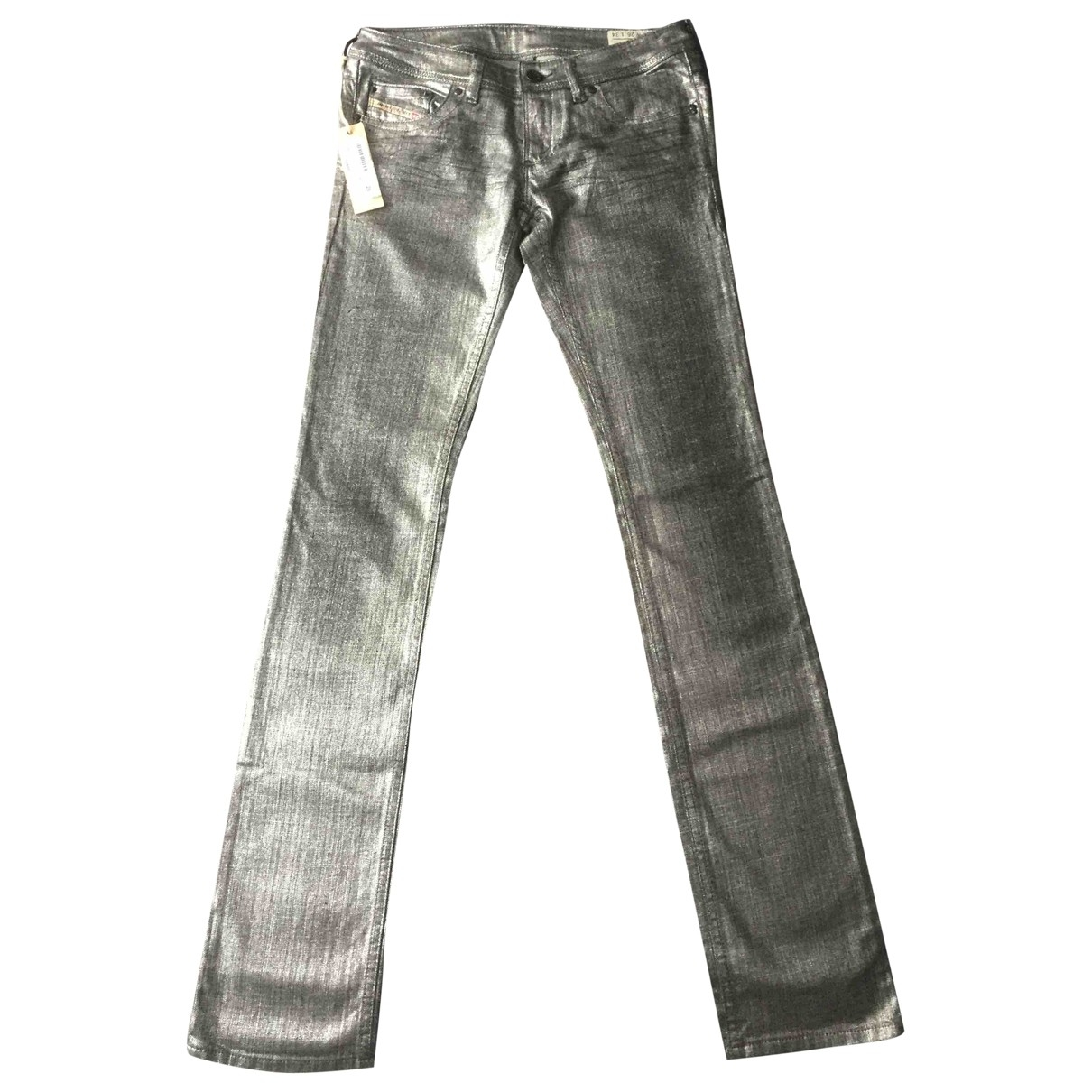 Diesel - Pantalon   pour femme en denim - argente