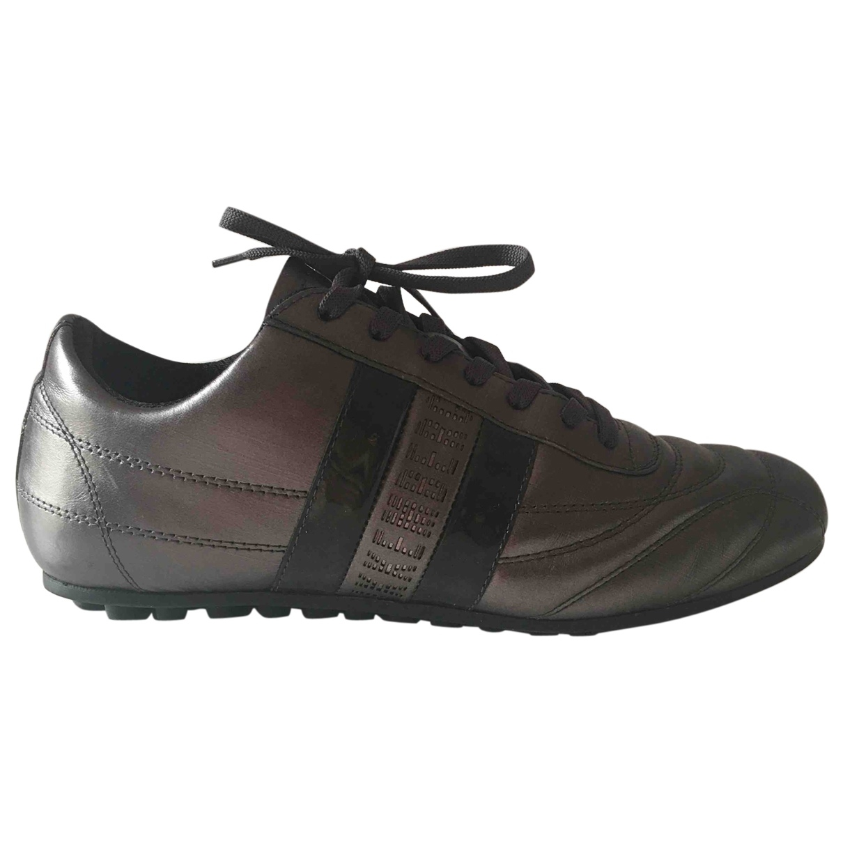 Dirk Bikkembergs \N Grey Leather Trainers for Women 40 EU