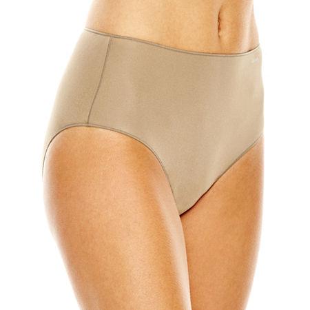 Jockey No Panty Line Promise Tactel Microfiber Brief Panty 1372, 8 , Beige