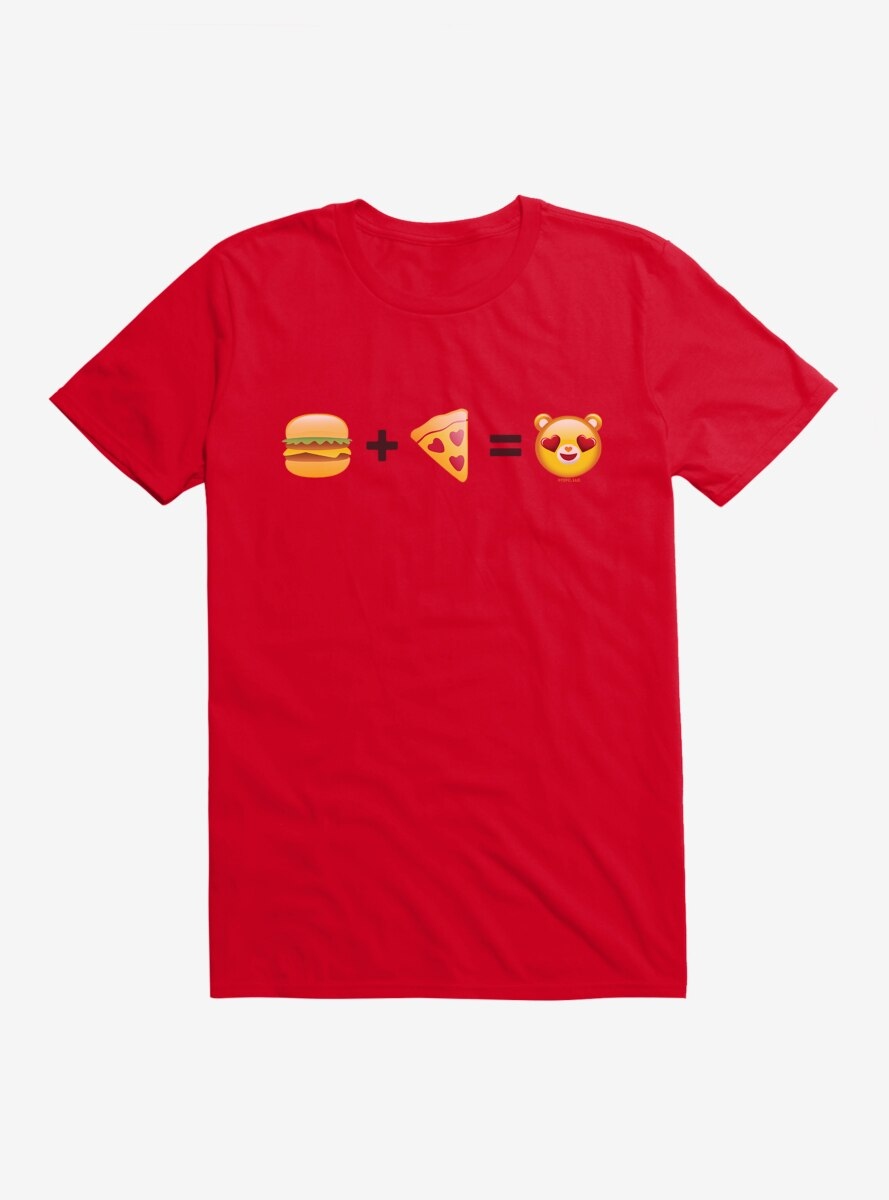Care Bears Burger And Pizza Equals T-Shirt