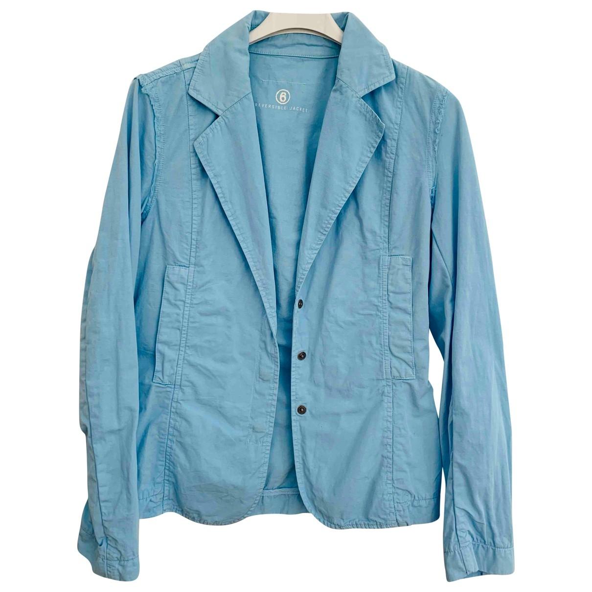 Mm6 \N Blue Cotton jacket for Women 36 FR
