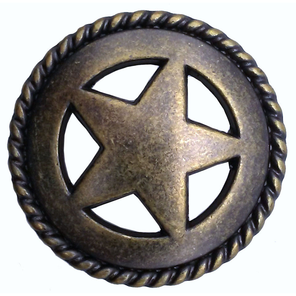 Star with Roped Edge, Brass Oxide