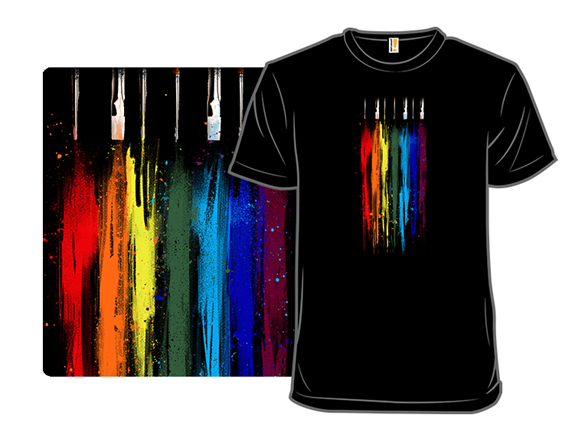 Paint Abstract T Shirt