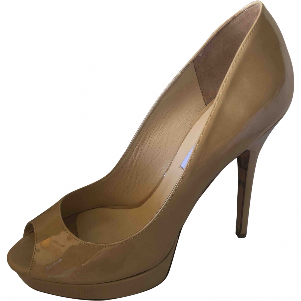 Jimmy Choo \N Camel Patent leather Heels for Women 40 EU
