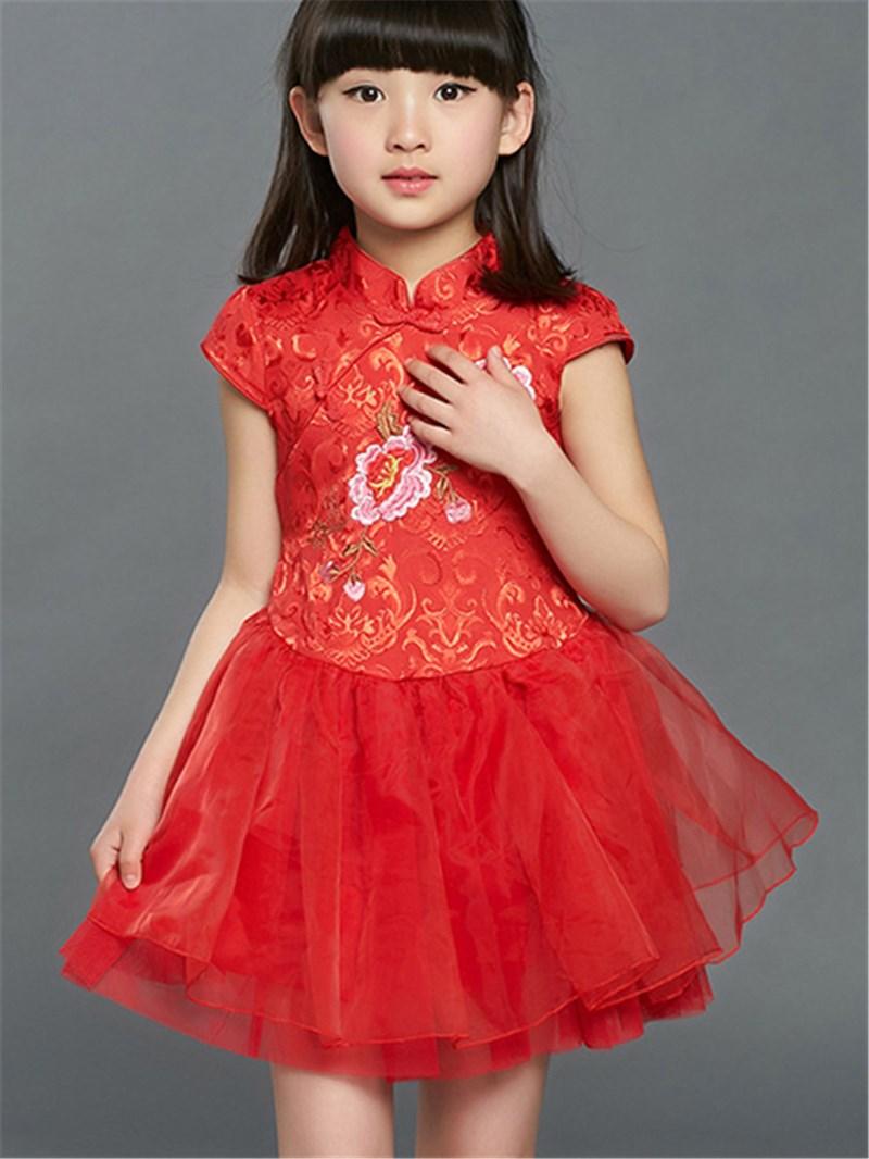 Ericdress Ethnic Patchwork Girls Dress