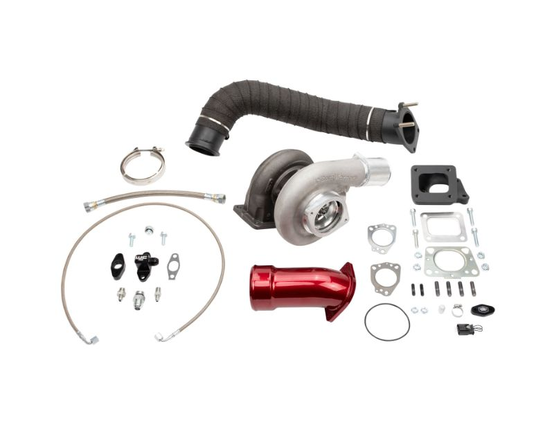 WCFab 2017-2019 L5P Duramax S369 Single Turbo Install Kit Red Two Stage Powder Coating