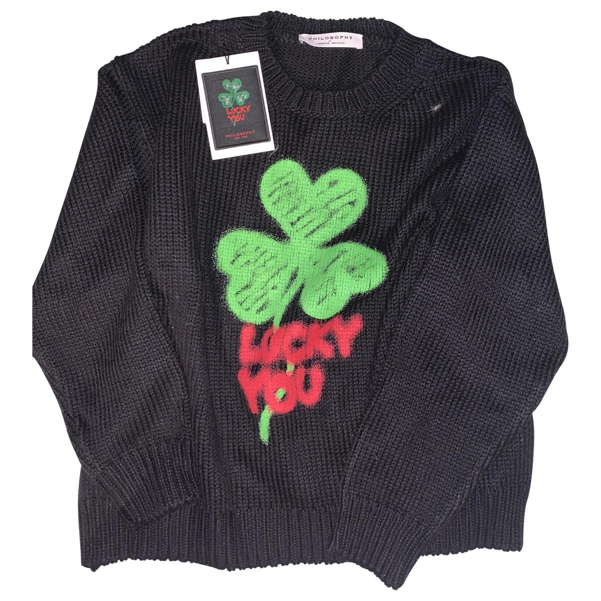 Philosophy Di Lorenzo Serafini \N Black Wool Knitwear for Women 40 IT