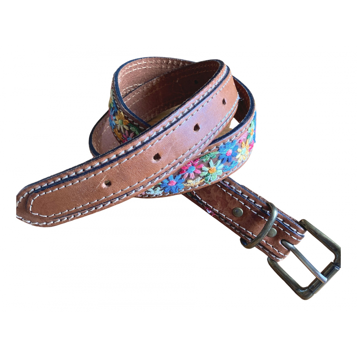 Non Signé / Unsigned \N Multicolour Leather belt for Women 75 cm