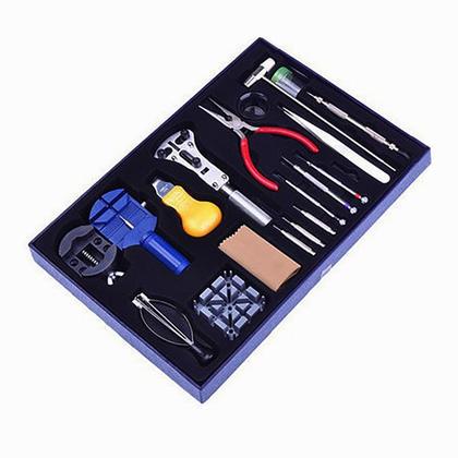 20 pièces kit deluxe tournevis bracelet lien pin remover watch repair tool