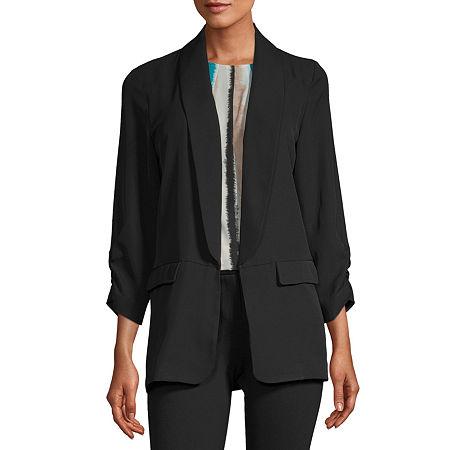 Worthington Womens Blazer, Xx-large , Black