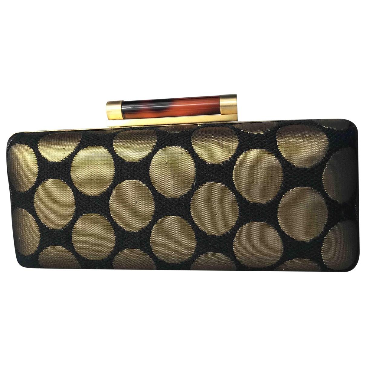 Diane Von Furstenberg \N Gold Cloth Clutch bag for Women \N