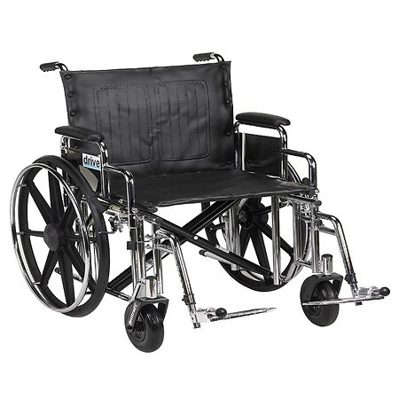 Drive Medical Sentra Extra Heavy Duty Wheelchair w Detachable Desk Arm and Swing Away Footrest 20 Inch Seat - 1.0 ea