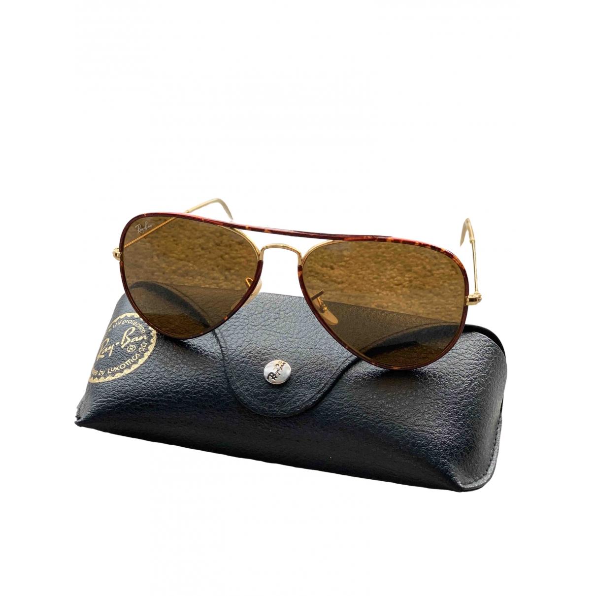 Ray-ban Aviator Brown Metal Sunglasses for Women \N