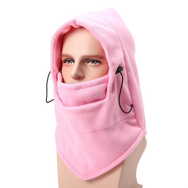 Men Women Outdoor Thicken Fleeces Cap Windproof Ski Mask Warm Head Scarves Cycling Headgear Hat
