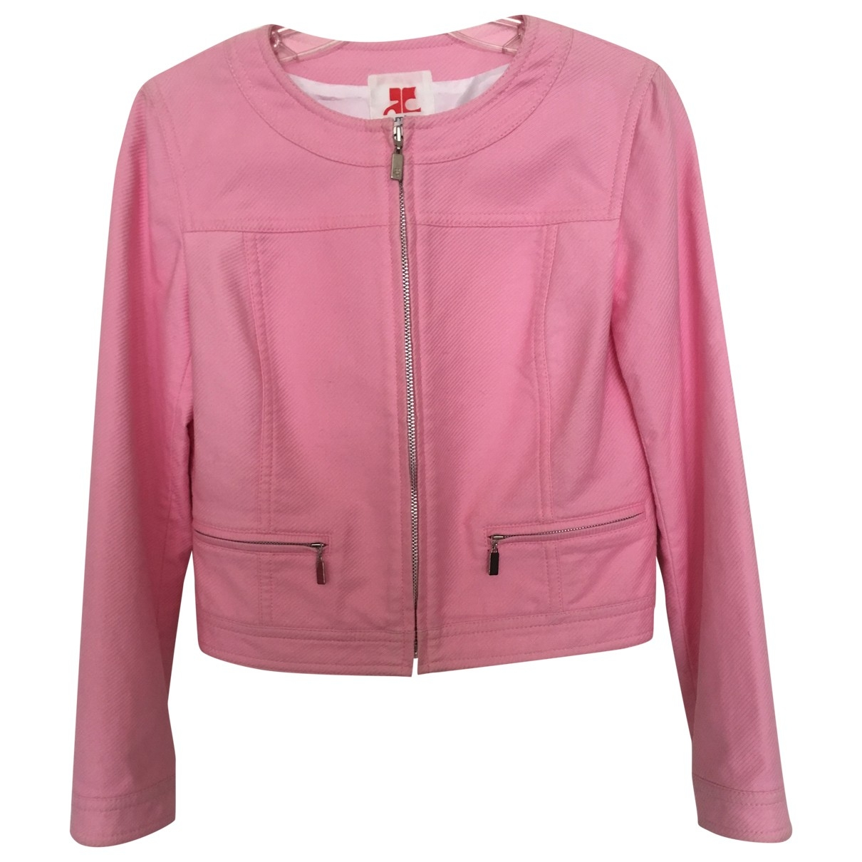 Courrèges \N Pink Cotton jacket for Women 38 FR