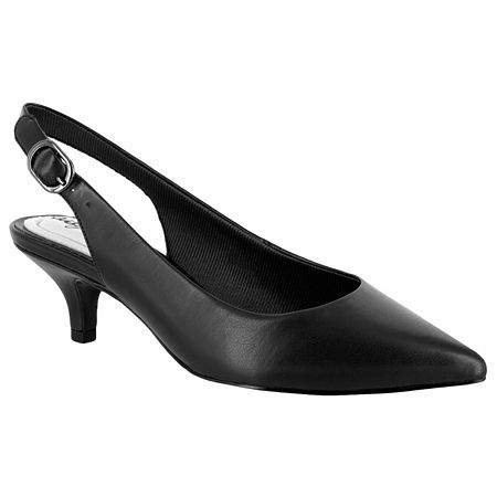 Easy Street Womens Faye Pumps Kitten Heel, 8 Wide, Black