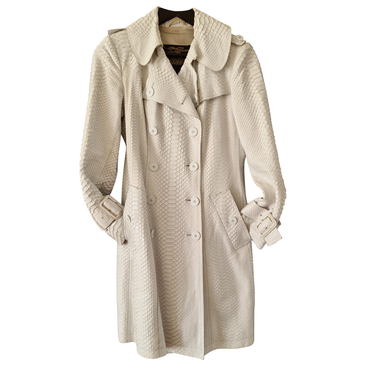 Burberry \N White Python Trench coat for Women 42 IT