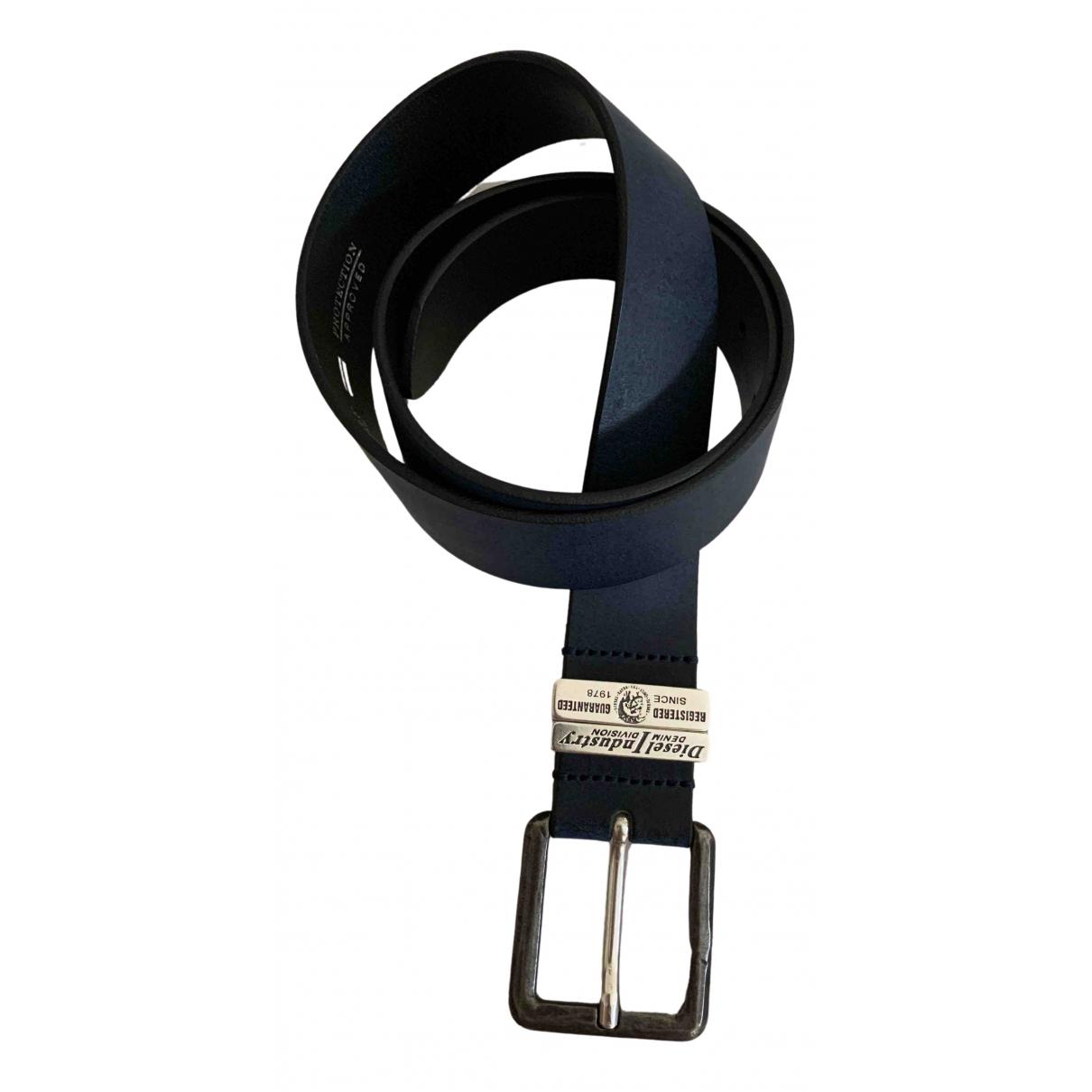 Diesel \N Blue Leather belt for Women 80 cm
