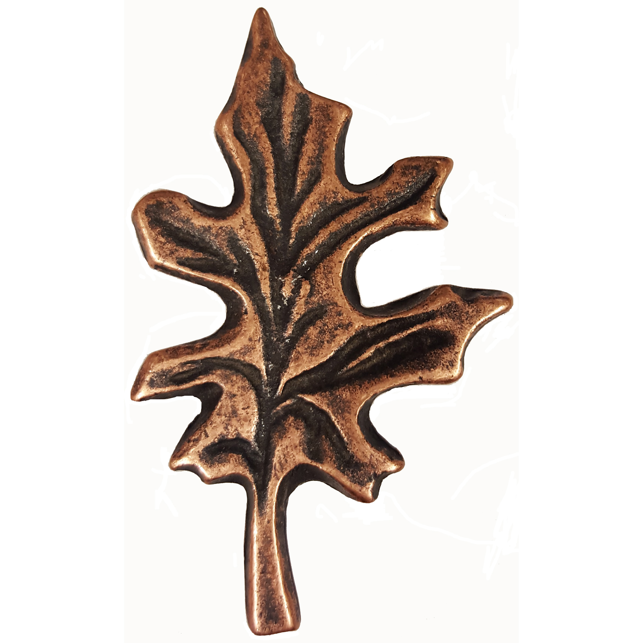 Oak Leaf Pull, Antique Copper, Model 142AC