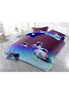 Drop of Water Wear-resistant Breathable High Quality 60s Cotton 4-Piece 3D Bedding Sets