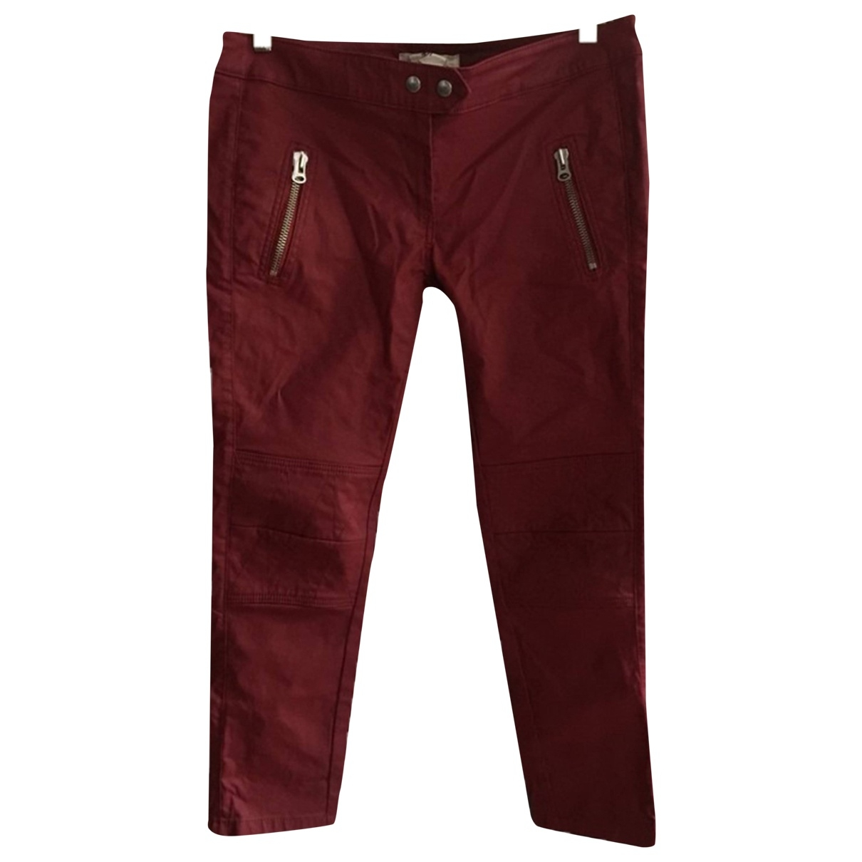 Isabel Marant Pour H&m \N Red Cotton Trousers for Women 12 UK