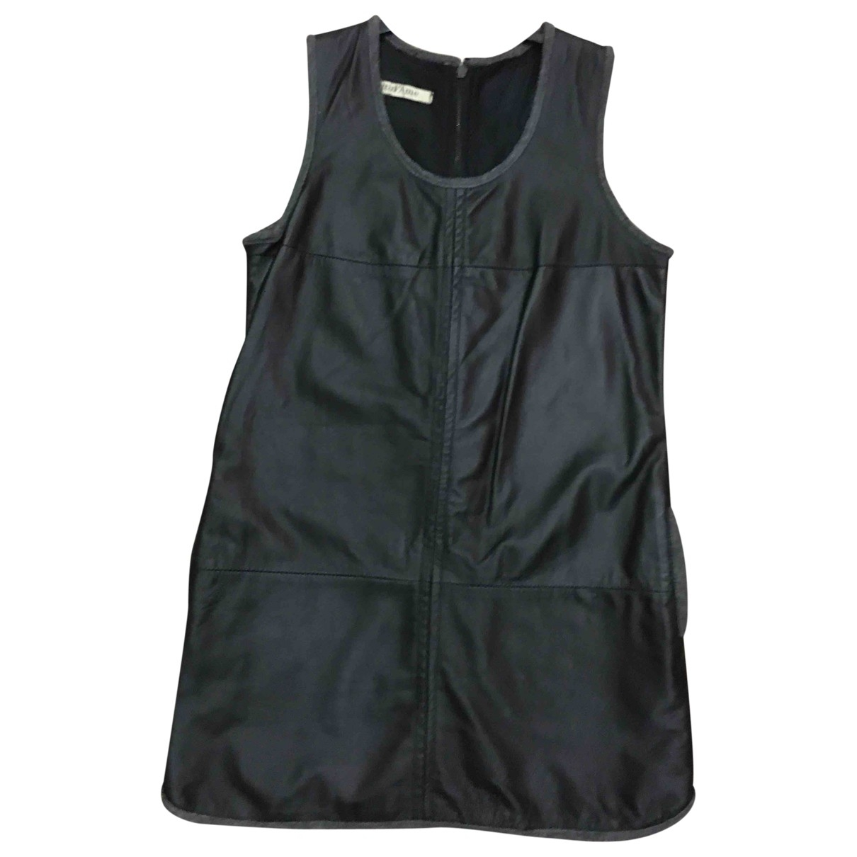 Ottod'ame \N Black Leather dress for Women 38 FR
