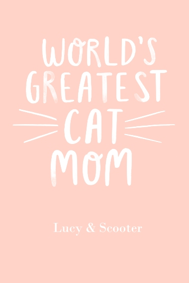 Non-Photo 12x18 Adhesive Poster, Home Décor -Worlds Greatest Cat