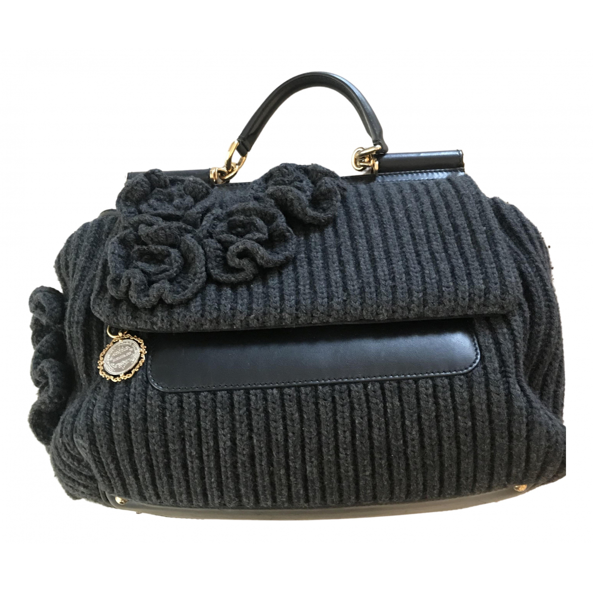 Dolce & Gabbana Sicily Grey Wool handbag for Women \N