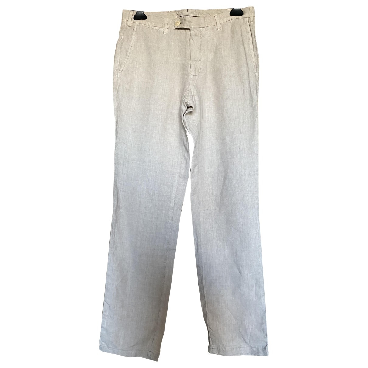 Hartwood Paris \N Ecru Linen Trousers for Men 44 FR