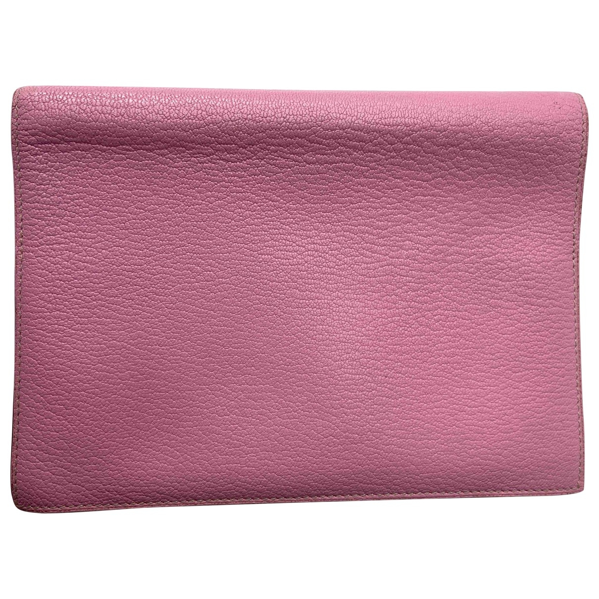 Hermès Couverture d'agenda GM Pink Leather Home decor for Life & Living \N