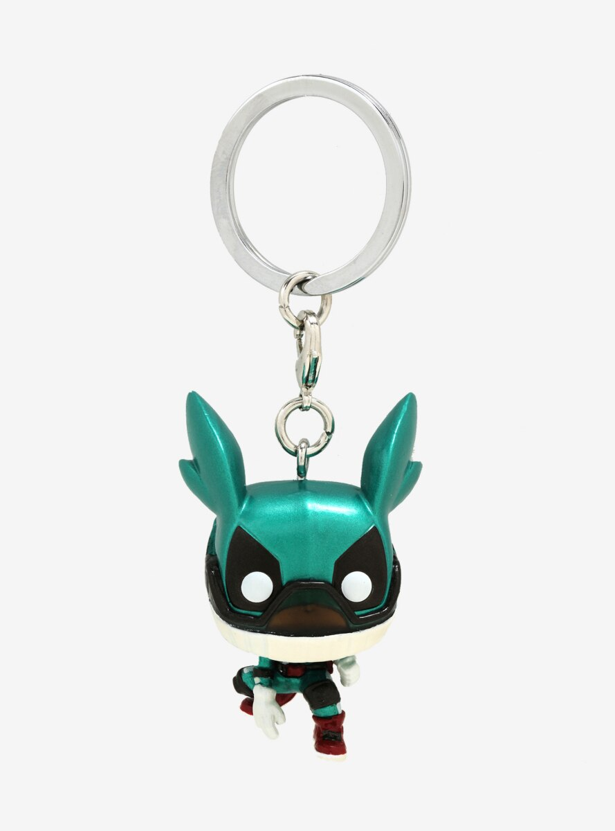Funko Pocket Pop! My Hero Academia Izuku Midoriya with Helmet (Metallic) Vinyl Keychain - BoxLunch Exclusive