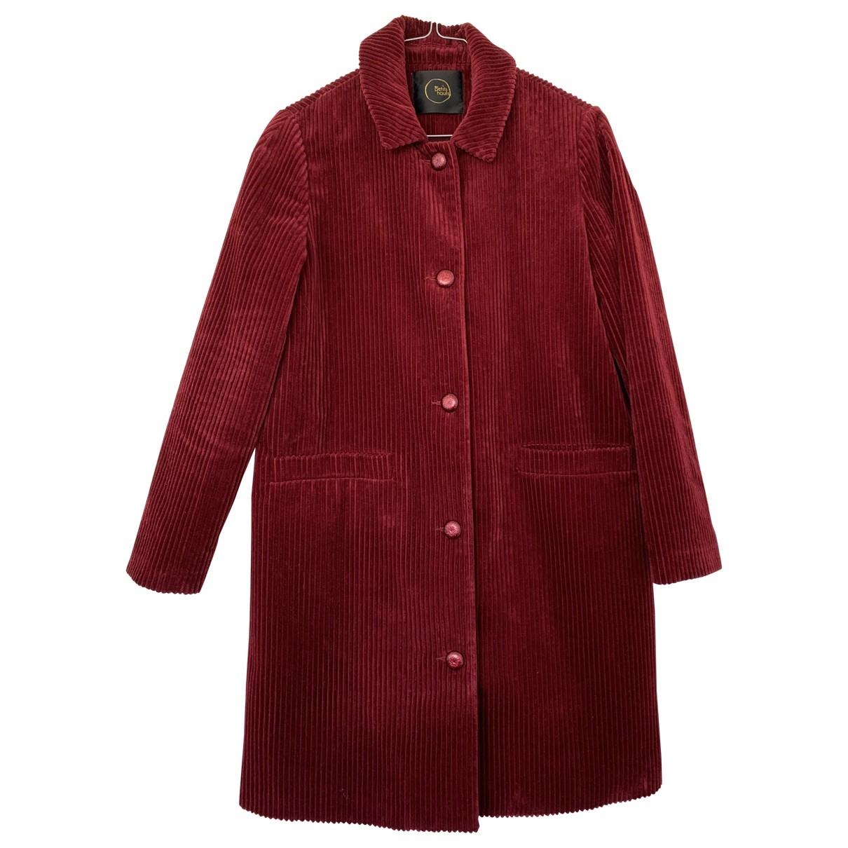 Des Petits Hauts \N Burgundy Velvet coat for Women 1 0-5