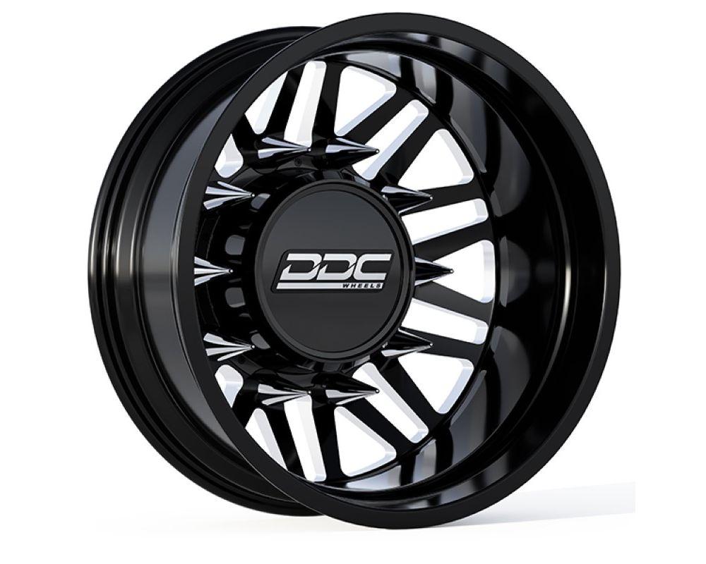 DDC Wheels 01BM-165-28-13 Aftermath Dually Wheel Kit 22X8.25 8X165 121.3 13.50 Tire Black|Milled Dodge|Ram|GMC|Chevy 1992-2018