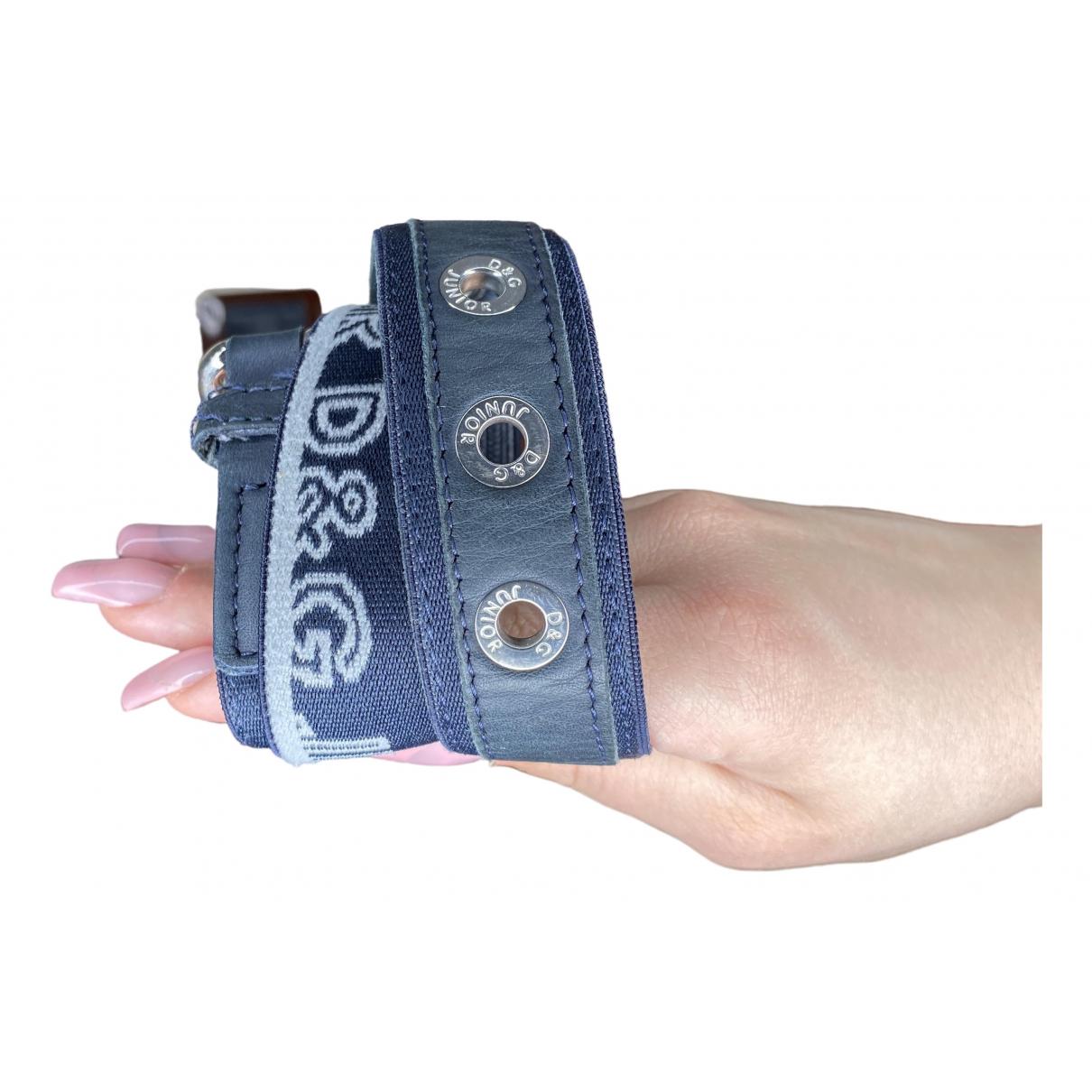 D&g \N Blue Suede belt.Suspenders for Kids \N