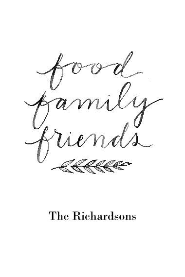 Non-Photo 24x36 Poster , Home Décor -Food Family Friends