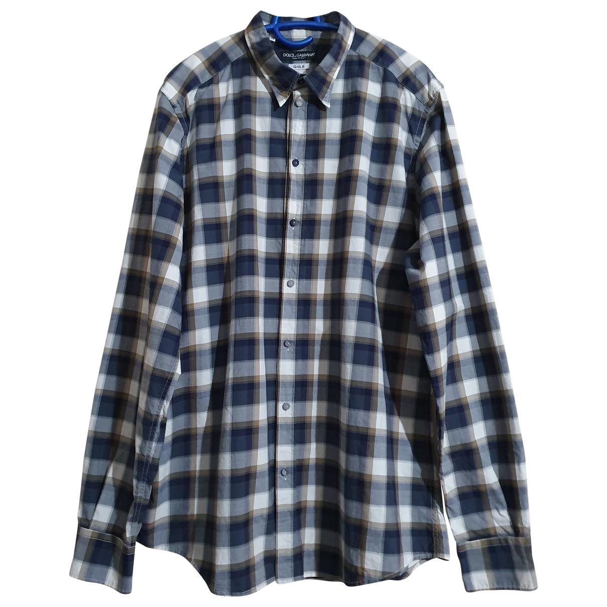 Dolce & Gabbana \N Multicolour Cotton Shirts for Men 17 UK - US (tour de cou / collar)