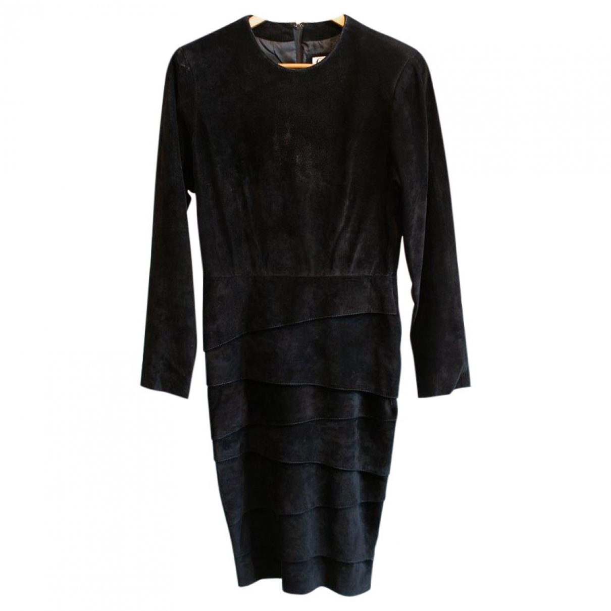 Non Signé / Unsigned \N Black Suede dress for Women 10 US