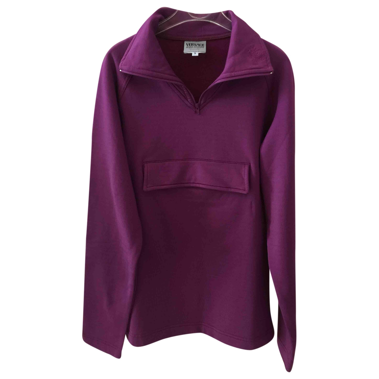 Versace Jeans \N Purple Cotton Knitwear for Women S International