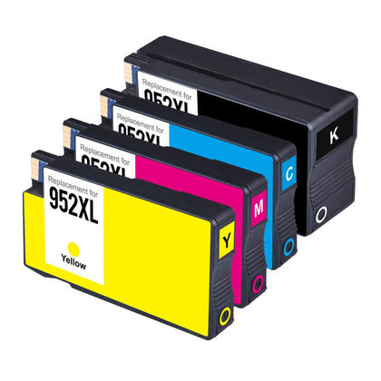 Compatible HP 952XL Ink Cartridge Combo High Yield BK/C/M/Y - Economical Box