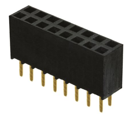 Samtec , SSW 2.54mm Pitch 16 Way 2 Row Straight PCB Socket, Through Hole, Solder Termination