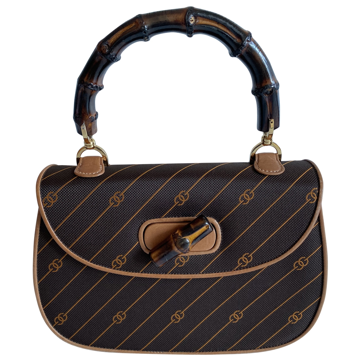 Gucci Bamboo Brown Leather handbag for Women \N
