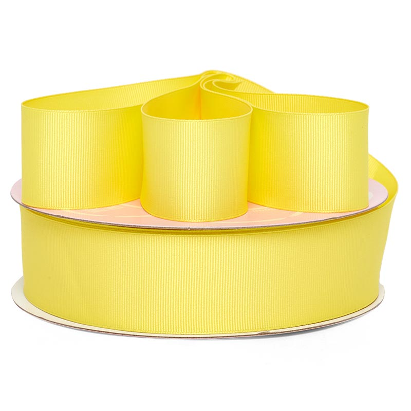 1 1/2 X 50 Yards Lemon Grosgrain Ribbon by Ribbons.com