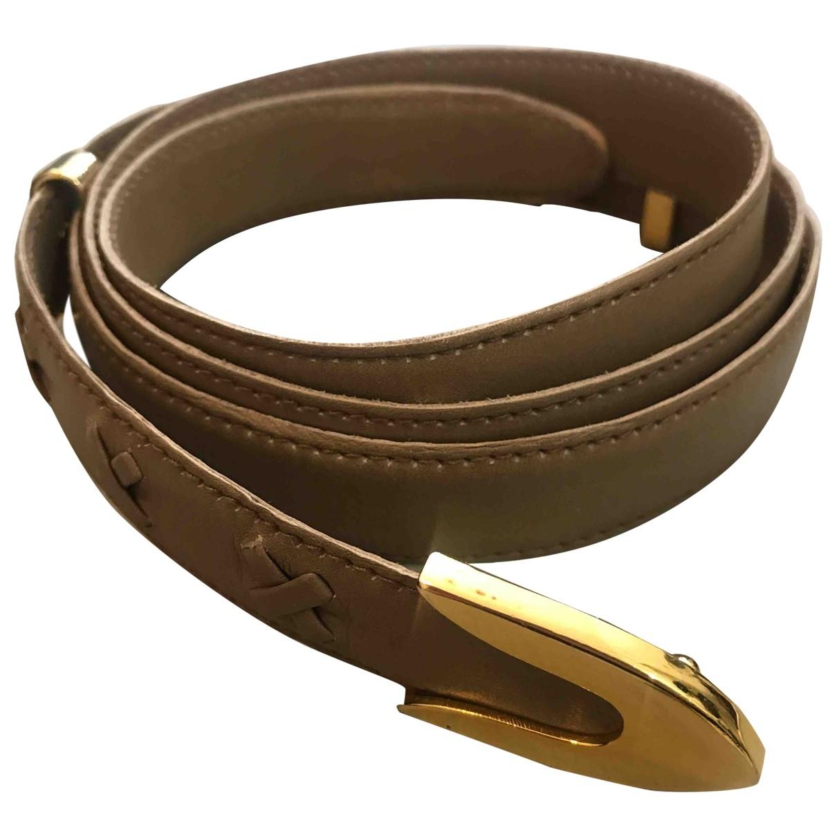 Rodo \N Beige Leather belt for Women M International