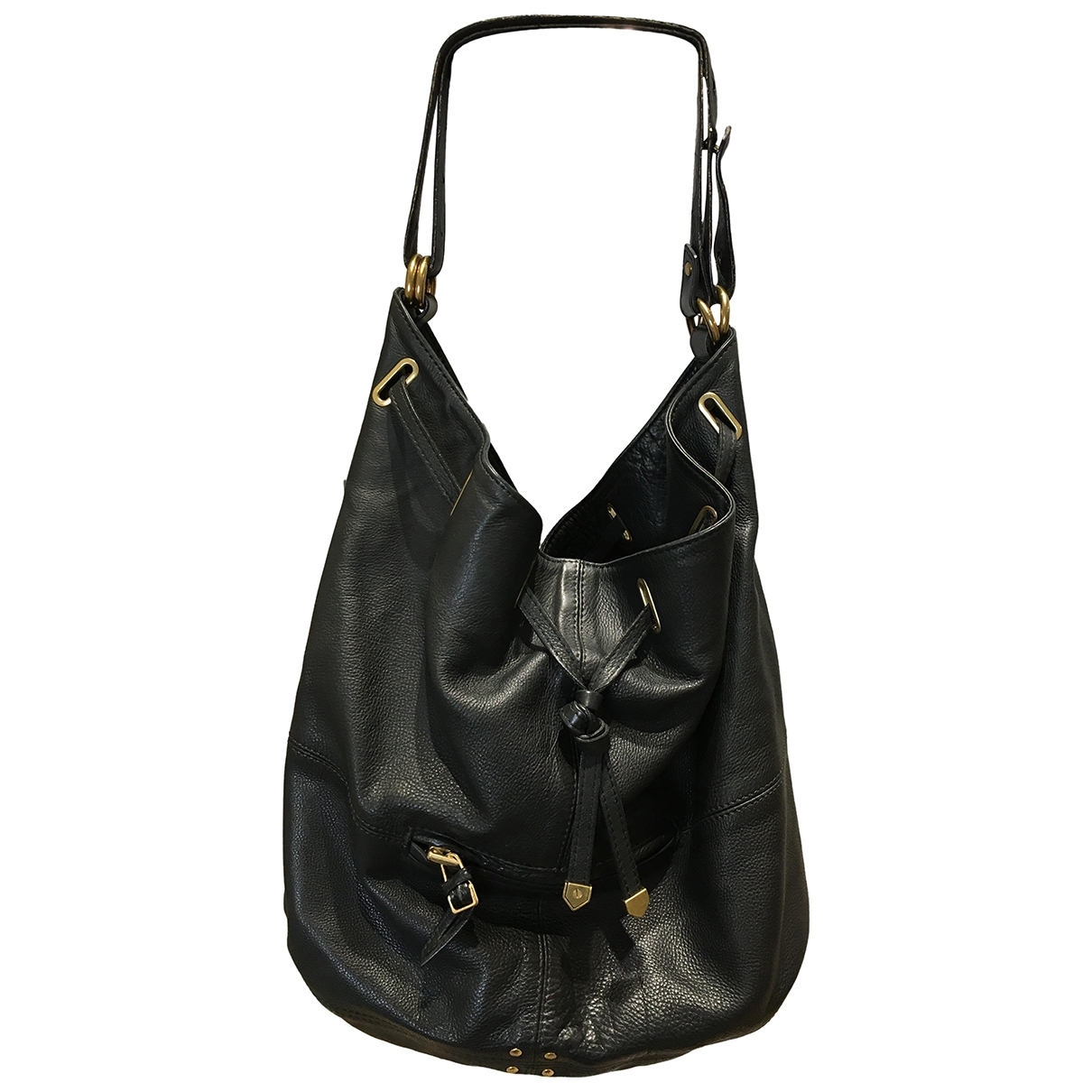 Jerome Dreyfuss Alain Black Leather handbag for Women \N