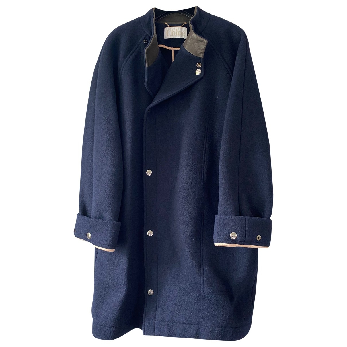 Chlo?? \N Navy Wool coat for Women 36 FR