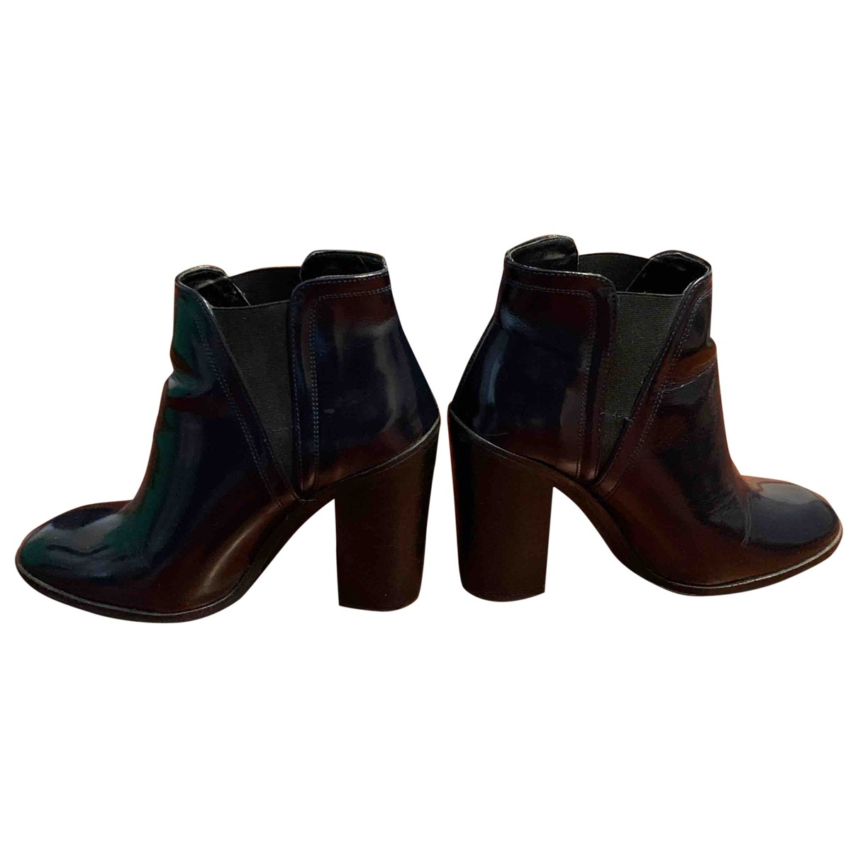 Zara \N Blue Patent leather Ankle boots for Women 38 EU