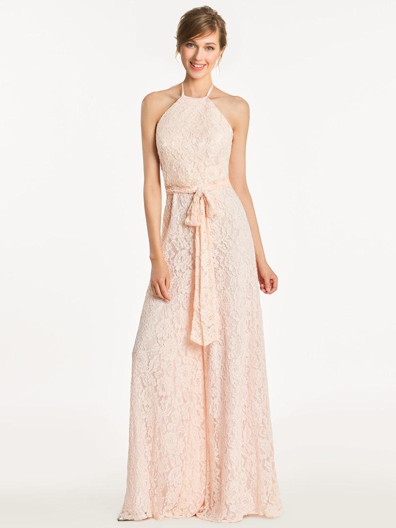 Ericdress Halter Lace Long Bridesmaid Jumpsuit