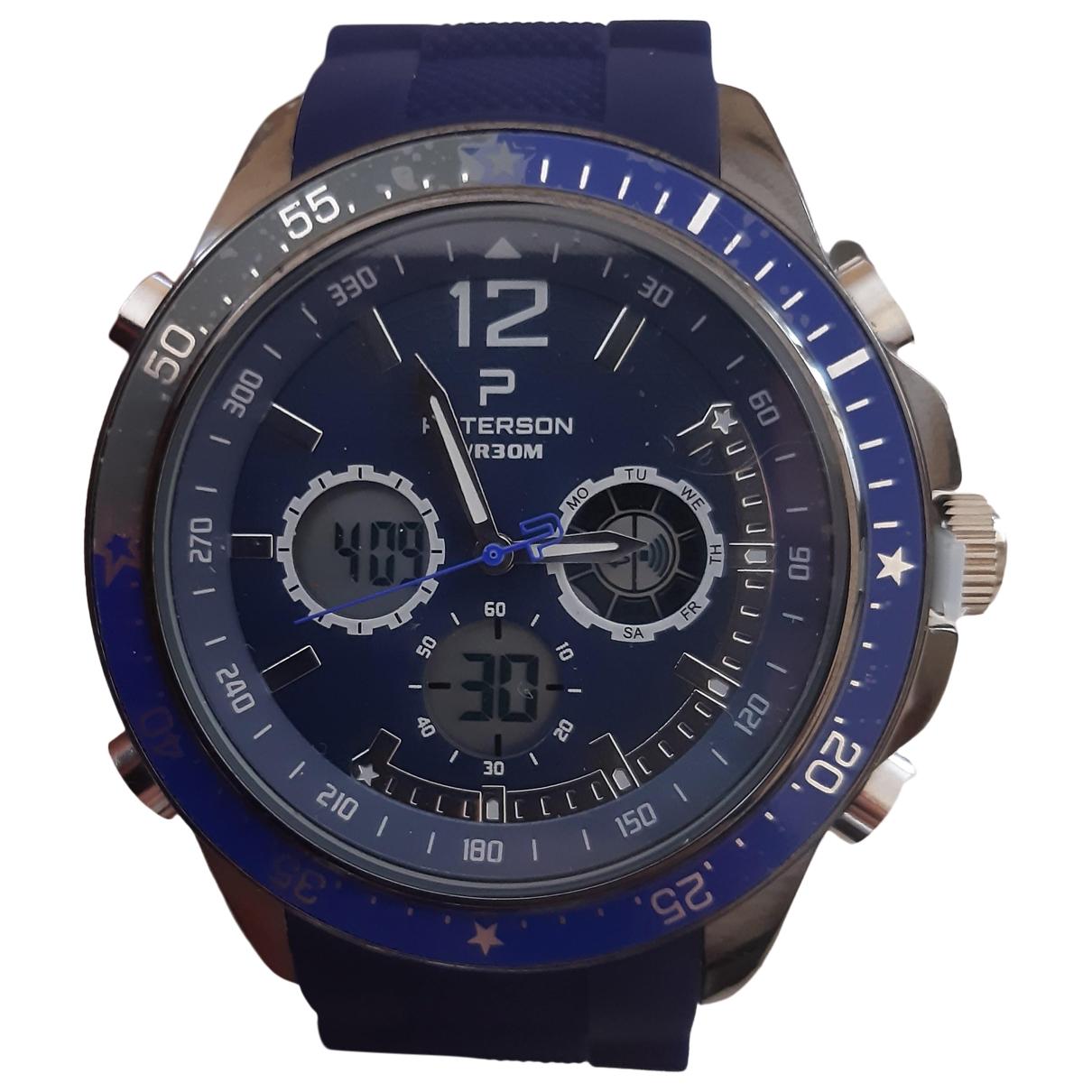 Paterson \N Blue Steel watch for Men \N