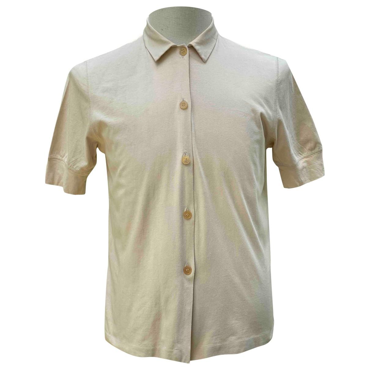 Jil Sander \N Beige Cotton Shirts for Men M International